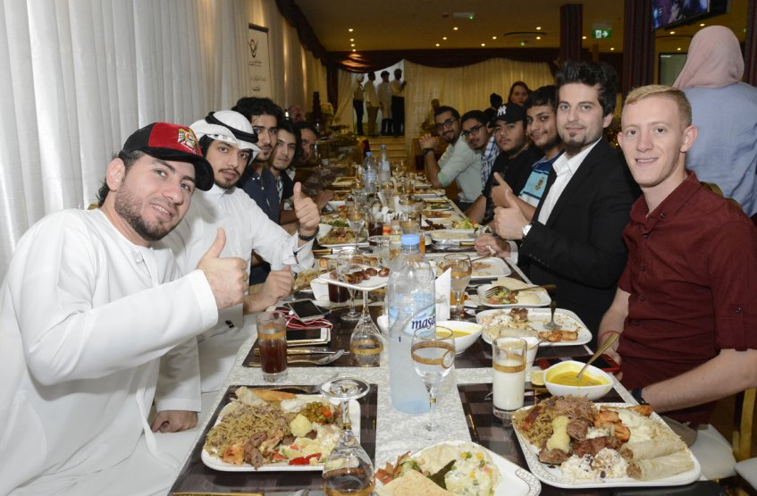 An Iftar Banquet for the AAU's distinguished students