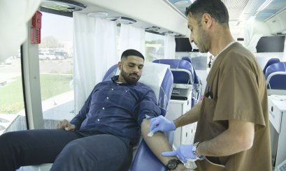 A Blood Donation campaign promotes the humanity values